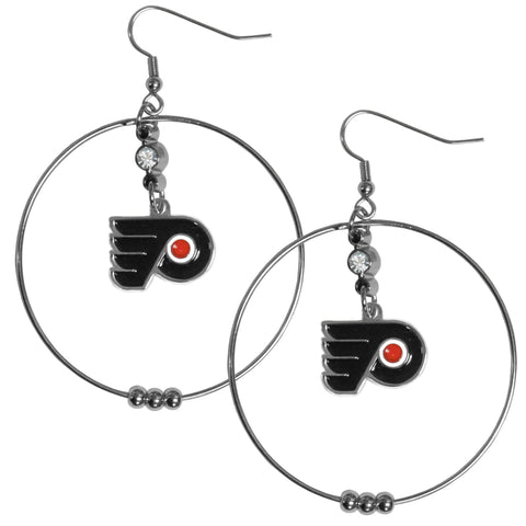 Philadelphia Flyers® 2 Inch Hoop Earrings