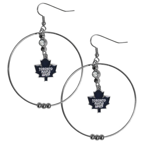 Toronto Maple Leafs® 2 Inch Hoop Earrings