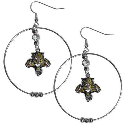 Florida Panthers® 2 Inch Hoop Earrings