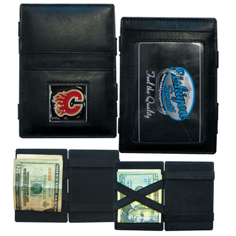 Calgary Flames® Leather Jacob's Ladder Wallet