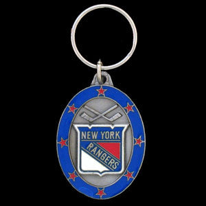 New York Rangers® Carved Metal Key Chain