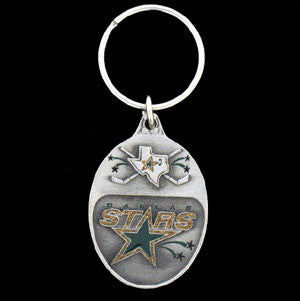 Dallas Stars™ Carved Metal Key Chain