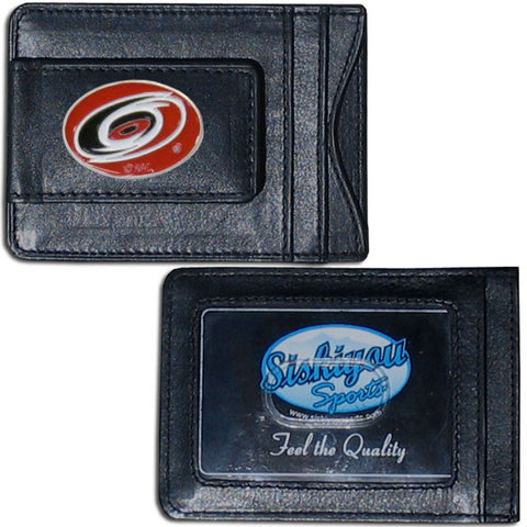 Carolina Hurricanes® Leather Cash & Cardholder