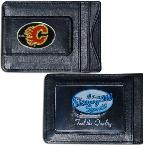 Calgary Flames® Leather Cash & Cardholder