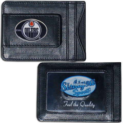 Edmonton Oilers® Leather Cash & Cardholder