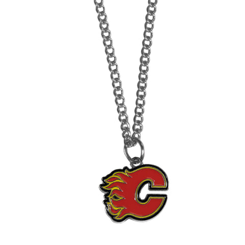 Calgary Flames® Chain Necklace with Small Charm