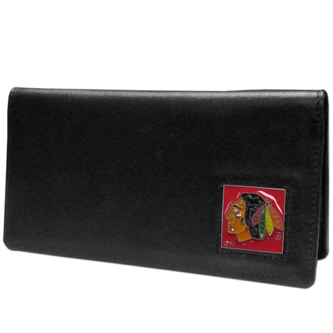 Chicago Blackhawks® Leather Checkbook Cover