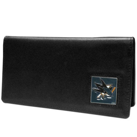 San Jose Sharks® Leather Checkbook Cover