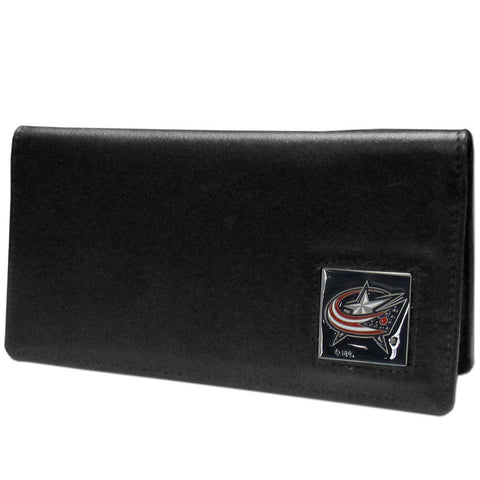 Columbus Blue Jackets® Leather Checkbook Cover
