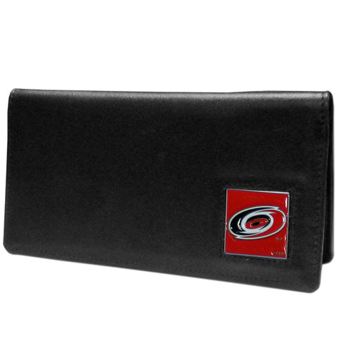 Carolina Hurricanes® Leather Checkbook Cover