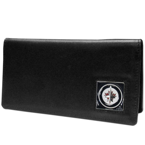 Winnipeg Jets™ Leather Checkbook Cover