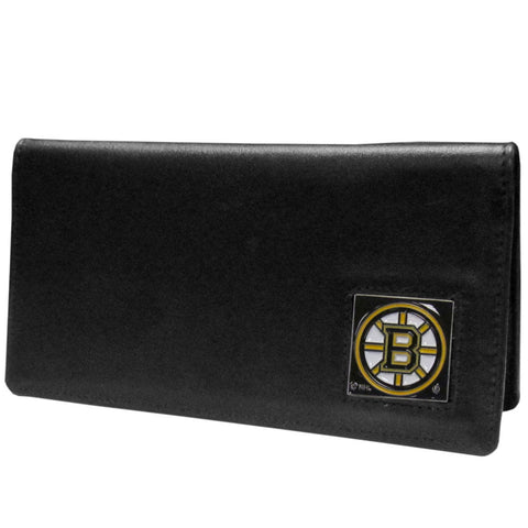 Boston Bruins® Leather Checkbook Cover