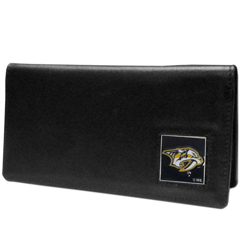 Nashville Predators® Leather Checkbook Cover