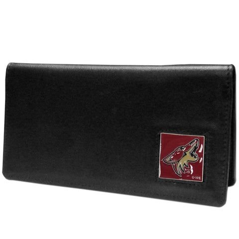 Arizona Coyotes® Leather Checkbook Cover