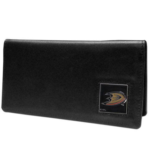 Anaheim Ducks® Leather Checkbook Cover