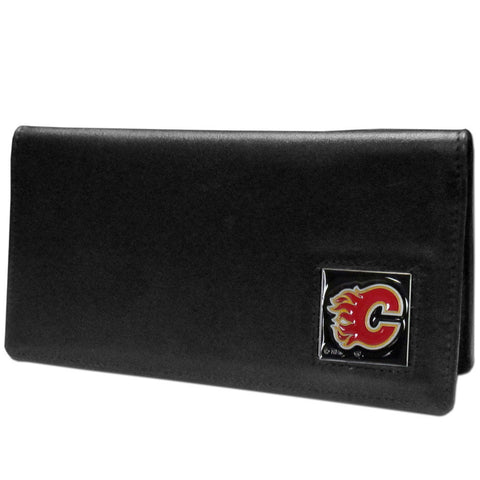 Calgary Flames® Leather Checkbook Cover