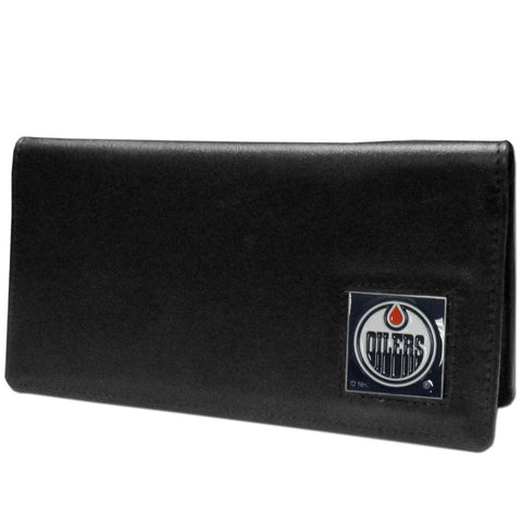 Edmonton Oilers® Leather Checkbook Cover