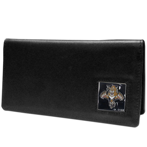 Florida Panthers® Leather Checkbook Cover