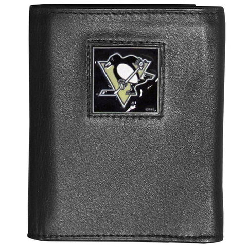 Pittsburgh Penguins® Deluxe Leather Tri-fold Wallet