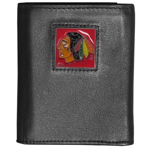Chicago Blackhawks® Deluxe Leather Tri-fold Wallet