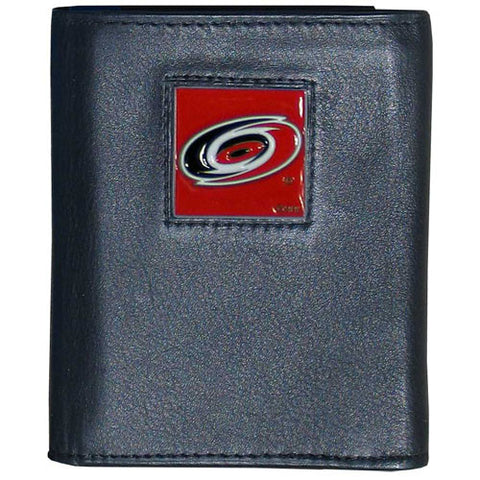 Carolina Hurricanes® Deluxe Leather Tri-fold Wallet