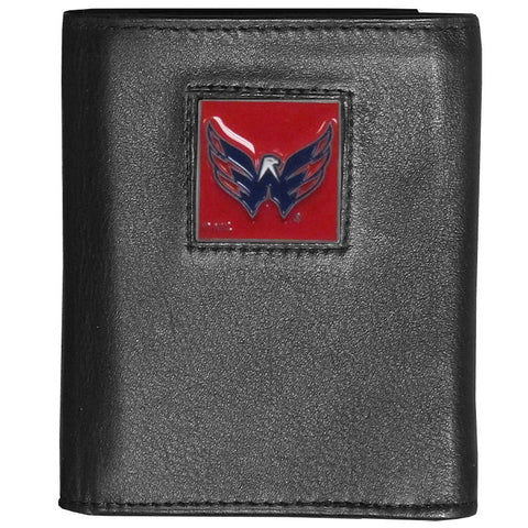 Washington Capitals® Deluxe Leather Tri-fold Wallet Packaged in Gift Box