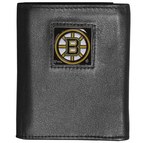 Boston Bruins® Deluxe Leather Tri-fold Wallet