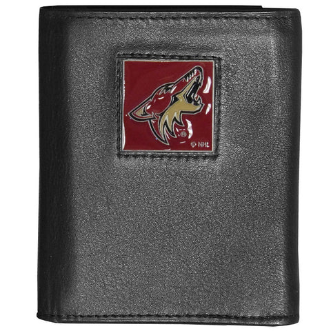 Arizona Coyotes® Deluxe Leather Tri-fold Wallet
