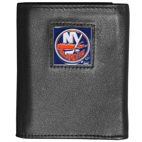 New York Islanders® Deluxe Leather Tri-fold Wallet Packaged in Gift Box