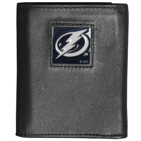 Tampa Bay Lightning® Deluxe Leather Tri-fold Wallet Packaged in Gift Box
