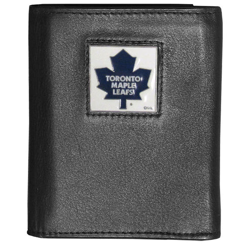 Toronto Maple Leafs® Deluxe Leather Tri-fold Wallet Packaged in Gift Box
