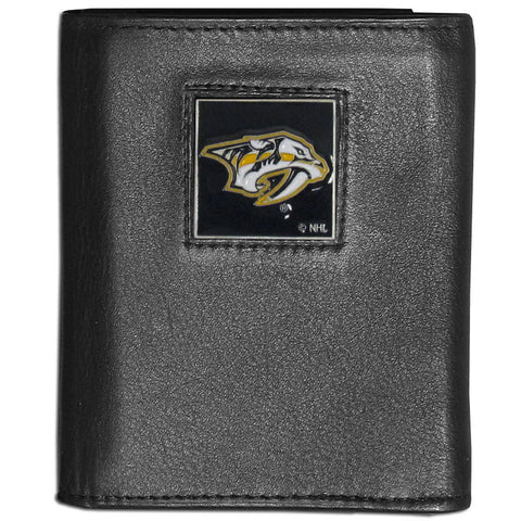 Nashville Predators® Leather Tri-fold Wallet