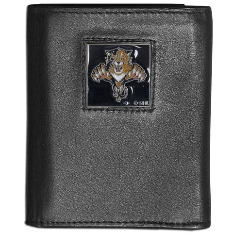 Florida Panthers® Leather Tri-fold Wallet