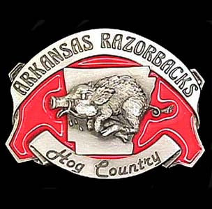 Arkansas Razorbacks Belt Buckle