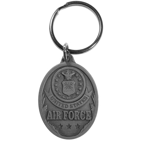 Air Force Antiqued Metal Key Chain