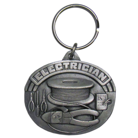 Electrician Key Ring Plain