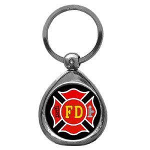 Firefighter Chrome Key Chain