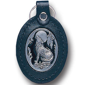 Leather Keychain - Wolf - LKF4E