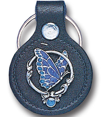 Leather Keychain - Butterfly