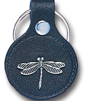 Leather Keychain - Dragonfly