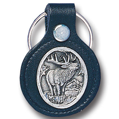 Leather Keychain - Elk