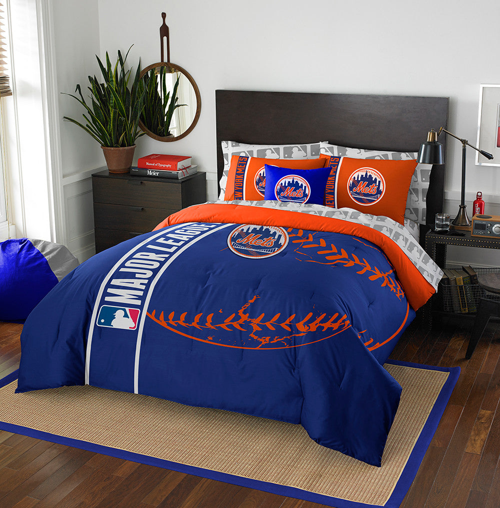 New York Mets MLB Full Comforter Bed in a Bag (Soft & Cozy) (76in x 86in)