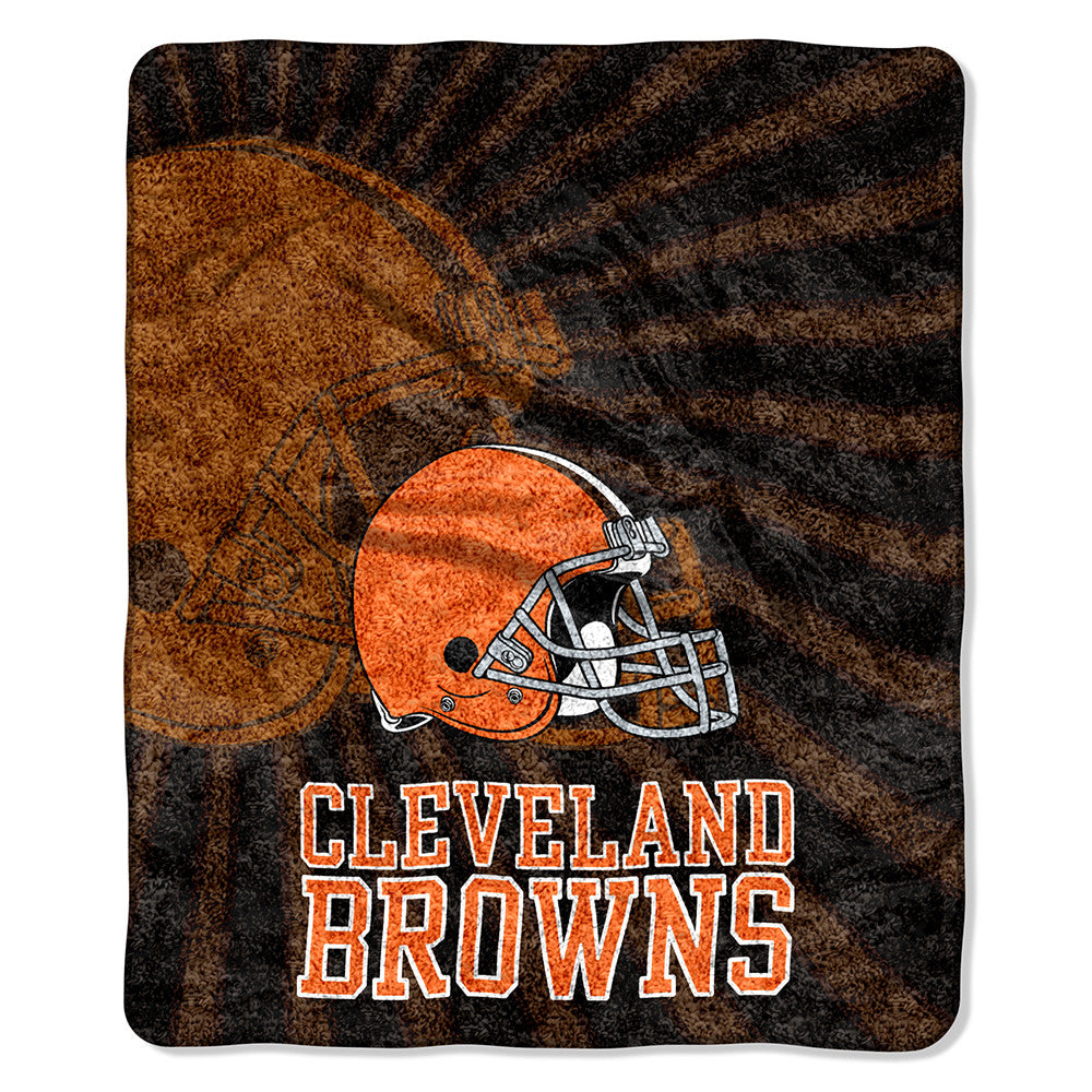 Cleveland Browns NFL Sherpa Throw (Strobe Series) (50in x 60in)