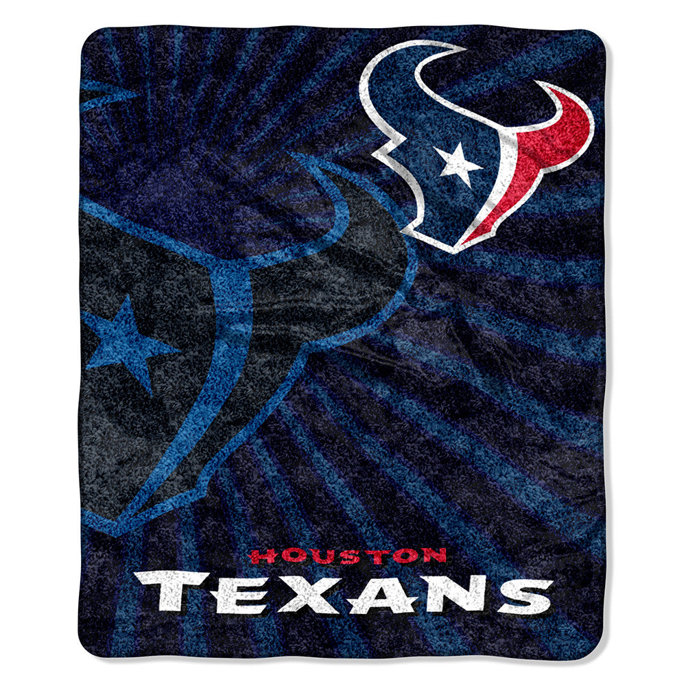 Houston Texans NFL Sherpa Throw (Strobe Series) (50in x 60in)