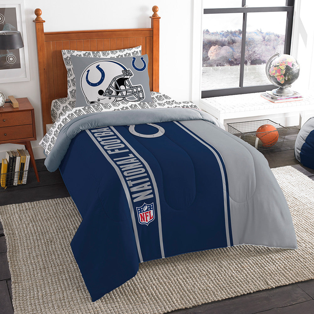Indianapolis Colts NFL Twin Comforter Bed in a Bag (Soft & Cozy) (64in x 86in)