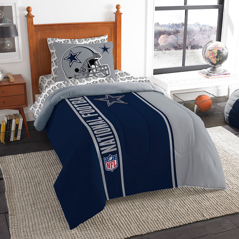 Dallas Cowboys NFL Twin Comforter Bed in a Bag (Soft & Cozy) (64in x 86in)