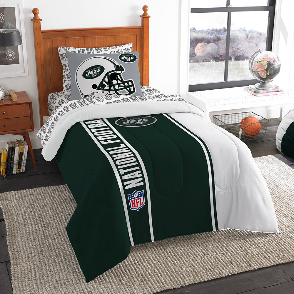 New York Jets NFL Twin Comforter Bed in a Bag (Soft & Cozy) (64in x 86in)