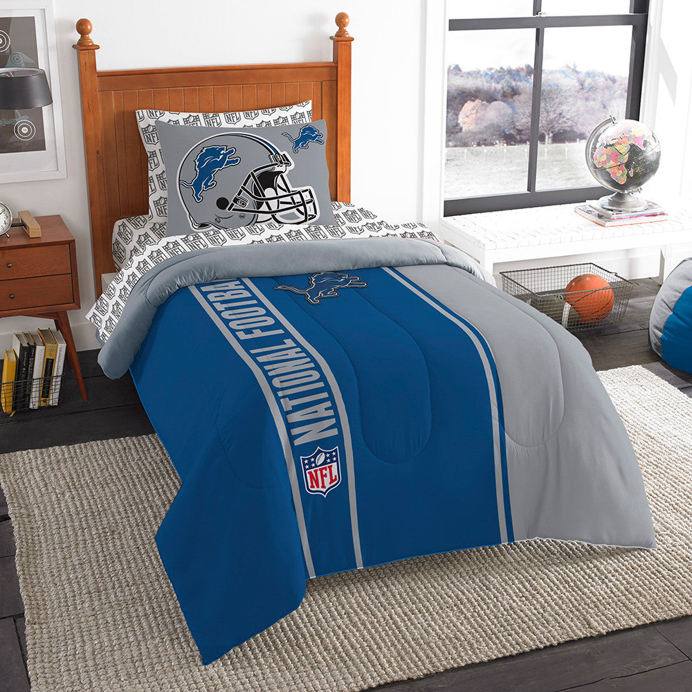 Detroit Lions NFL Twin Comforter Bed in a Bag (Soft & Cozy) (64in x 86in)