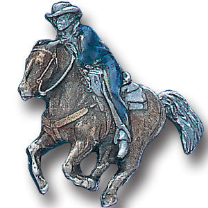 Collector Pin - Cowboy on Running Horse