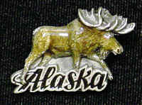 Collector Pin - Alaska Moose
